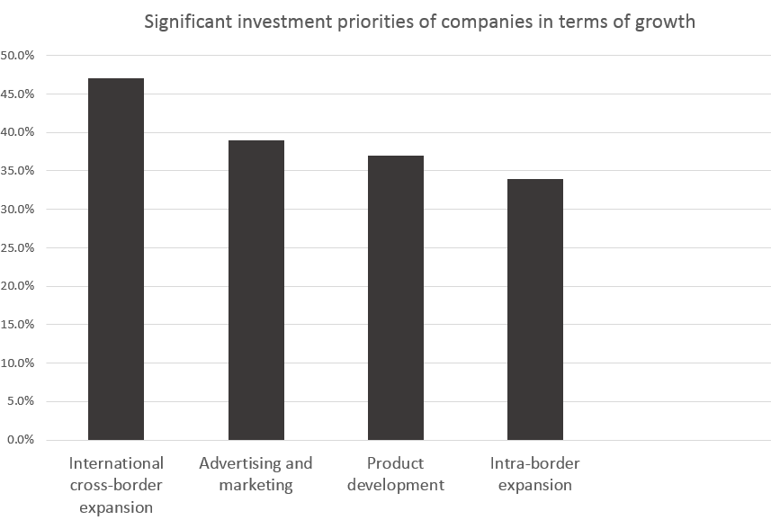 Significant investment priorities of companies in terms of growth