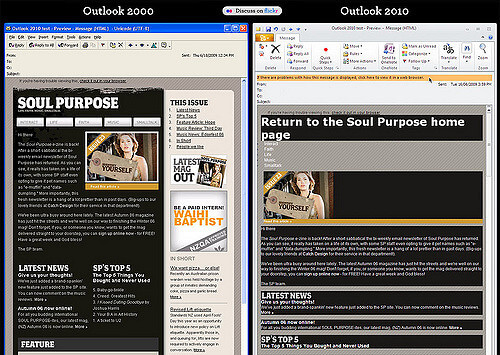 Outlook 2000 vs. Outlook 2010